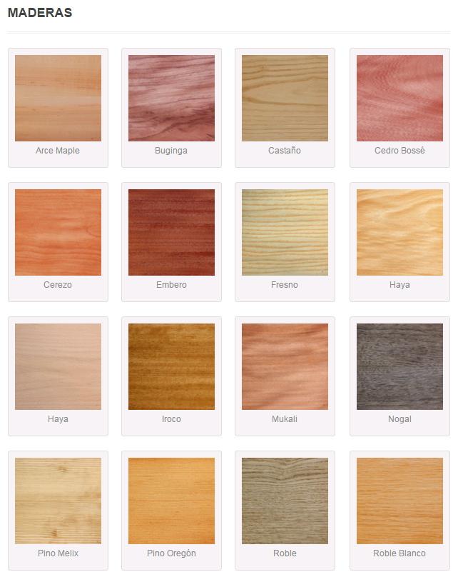 tipos de rachapados por color